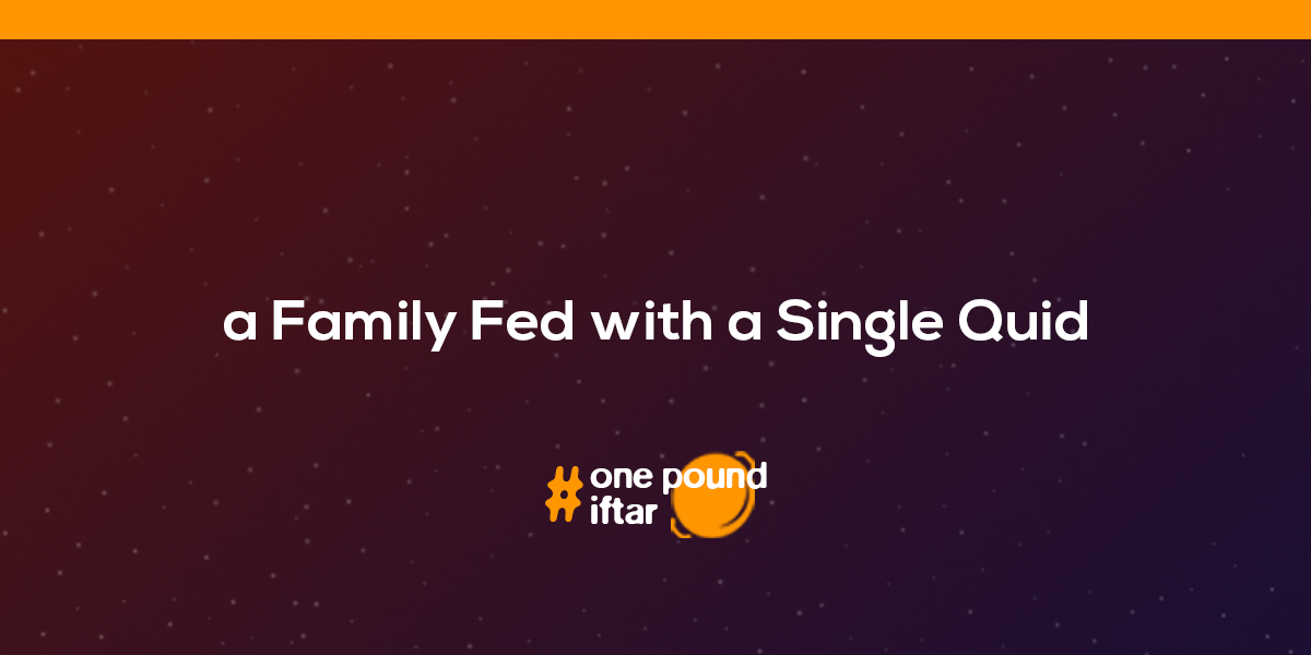 A Family Fed, With a Single Quid.